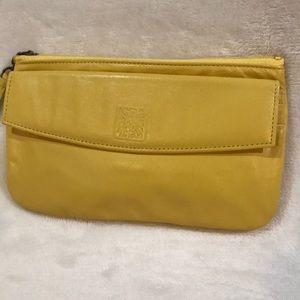 Anne Klein Yellow Vintage Leather Clutch